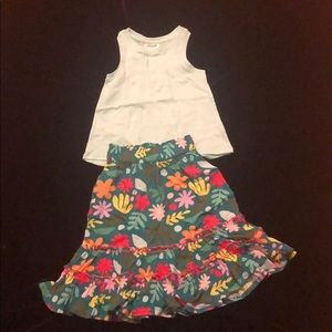 Super cute 2T Maxi skirt 2T tank Cat & Jack